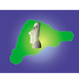 Easter Island map vector image
