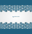 abstract blue circles pattern design lines vector image vector image