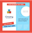 alphabets blocks company brochure template vector image