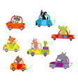 animals on a cars vector image