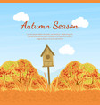 autumn season banner template with fall trees vector image vector image