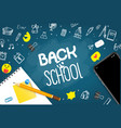 back to school concept with elements vector image
