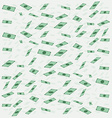 Banknotes money flying or falling in flat style vector image