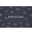 Barcelona Thin Line Icons vector image