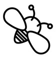 bee line icon insect isolated vector image