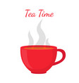 black tea red cup morning drink vector image vector image