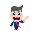 boss man character vector image vector image