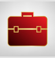 briefcase sign red icon on vector image vector image