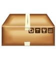 Cartoon box vector image