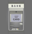 cash deposit machine atm vector image