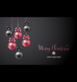 christmas background with rose and black evening vector image vector image