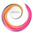 colorful brushstroke oil vector image vector image