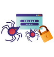computer window with password isolated icon vector image vector image