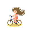 cute cartoon little pre teeen girl vector image vector image