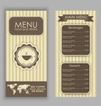 Design a menu for coffee vector image vector image