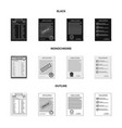 design of form and document logo set of vector image vector image