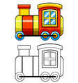 Doodles train vector image vector image