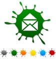 e-mail blot vector image vector image