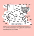 eczema symptoms concept banner in line style vector image