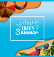 enjoy summer vacations vector image vector image