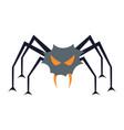 evil spider vector image