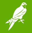 falcon icon green vector image vector image