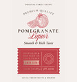 family recipe pomegranate liquor acohol label vector image vector image