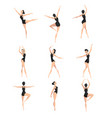 female ballet dancer set beautifull slim vector image vector image