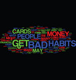 financial bad habits text background word cloud vector image vector image