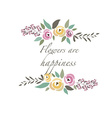 floral template with signature vector image vector image
