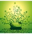 Futuristic bush vector image vector image