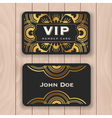 Golden mandala VIP access card vector image vector image