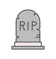 gravestone with rip alphabet halloween related vector image
