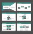 Green black presentation templates Infographic set vector image vector image