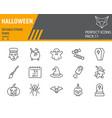 halloween line icon set holiday symbols vector image vector image