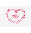 heart confetti isolated white transparent vector image vector image