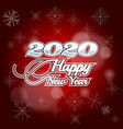 holiday card happy new year and numbers 2020 vector image