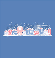 home in winter vector image vector image