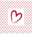 i love you heart valentines day greeting card vector image vector image