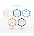 infographic five hexagons vector image