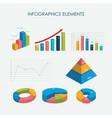 infographics elements 3d set flat design vector image vector image