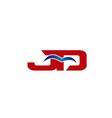 JD Logo Graphic Branding Letter Element vector image vector image