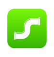 joint pipe in form s letter icon digital green vector image vector image