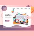 lecture website landing page design vector image