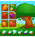 little farm match 3 mobile game games objects vector image vector image