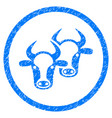 livestock rounded grainy icon vector image vector image