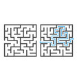 maze game logic game labyrinth square shapes vector image