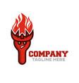 modern fork demon mascot logo vector image