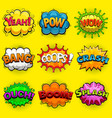 multicolored comic speech bubbles sound effects vector image vector image