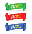 our big sale set of banners vector image vector image